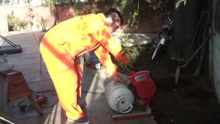 William Backyard Propane Tank Cutting For Metal Casting