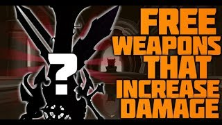 =AQW=TOP 5 WEAPONS THAT INCREASE DAMAGE (FREE/TAG AC)