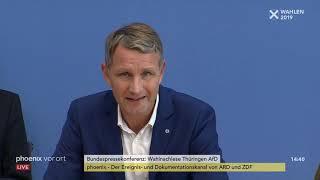 Wahlnachlese der AfD nach der Landtagswahl in Thüringen am 28.10.19