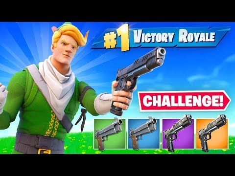 Using *ONLY* PISTOLS To WIN Fortnite (Challenge)