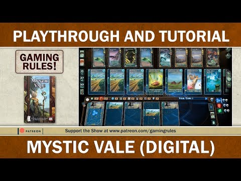 Mystic Vale Digital - Playthrough and Tutorial - Gaming Rules!
