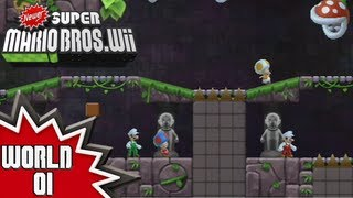 Newer Super Mario Bros. Wii - World 1 (2/2)