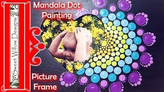 How to Paint Dot Mandalas #002 - Picture Frame