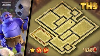 Epic TH9 War Base 2018 | Town Hall 9 Anti 2 Stars War base 2018 | 99% Failed | Clash of clans