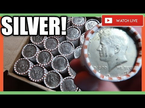 SILVER HALF DOLLARS - COIN ROLL HUNTING FOR RARE COINS!!