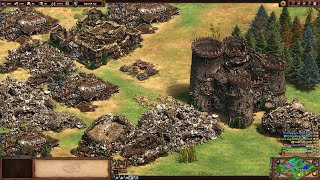 Age of Empires II Definitive Edition Building Collapses & Torpedo Cheat (PC) (4K60)