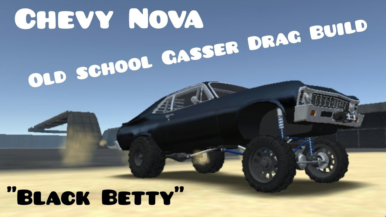 Offroad Outlaws Chevy Nova Old School Gasser Drag Build Black