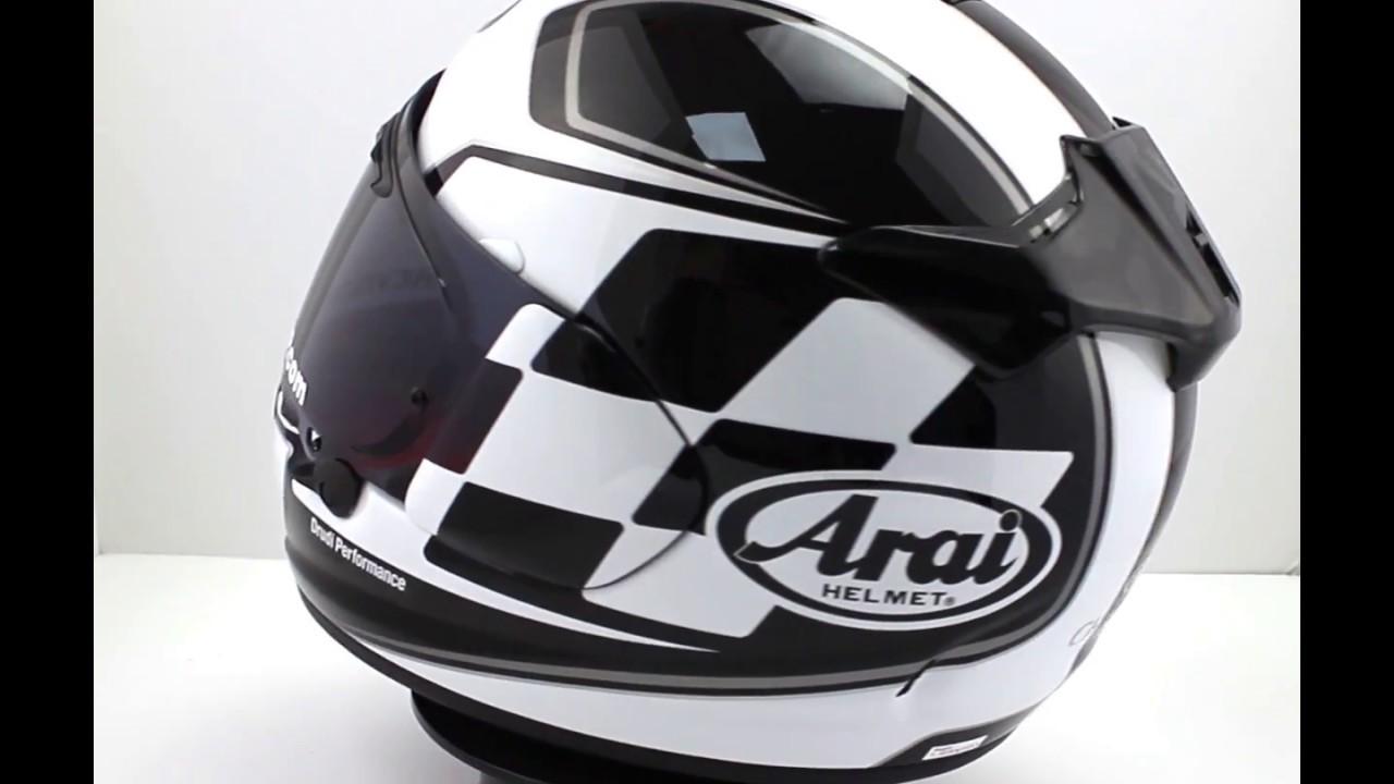 arai chaser x motorcycle helmet finish white youtube. Black Bedroom Furniture Sets. Home Design Ideas