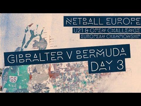 Gibraltar v Bermuda l Netball Europe Invitational Section 2017