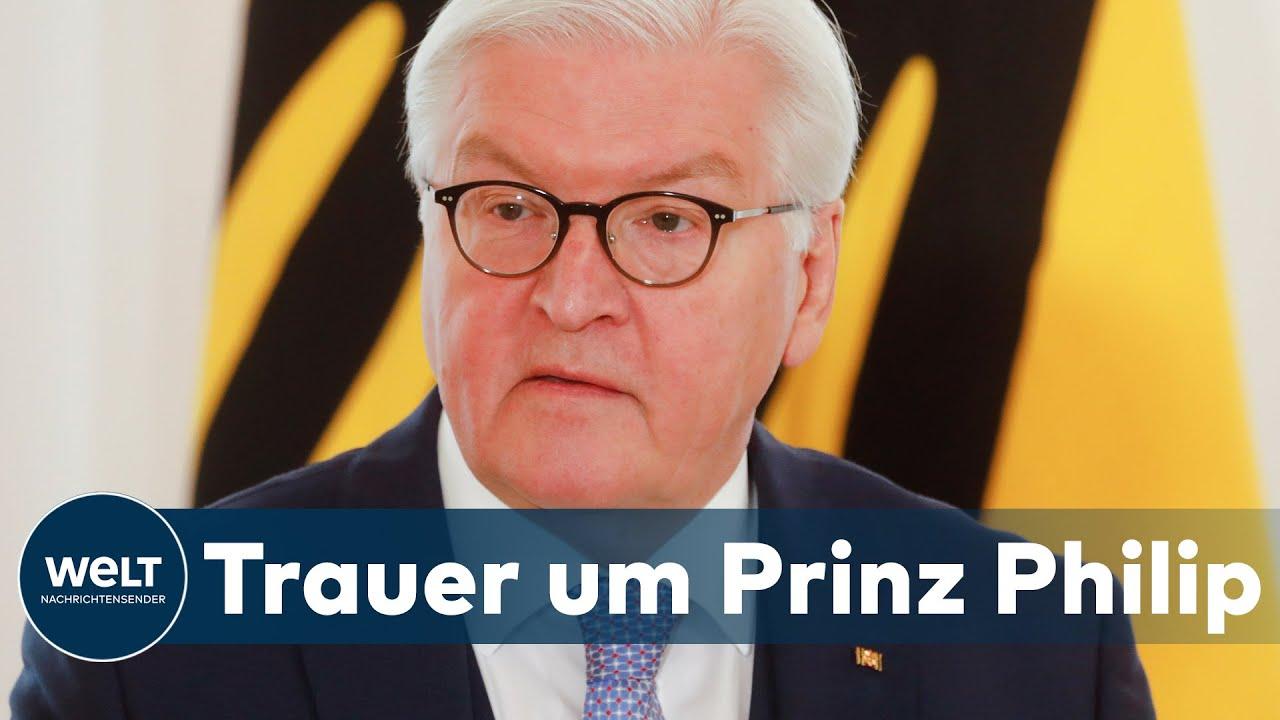 DEUTSCHLAND WÜRDIGT PRINZ PHILIP: Steinmeier und Merkel sprechen Queen Anteilnahme aus | WELT Thema