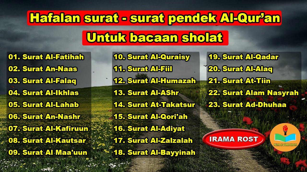 Download Hafalan surat surat pendek Al Quran untuk bacaan sholat