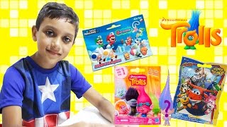 Trolls Super Wings Super Mario U Brinquedos Surpresa Surprise Blind Bags em Portugues