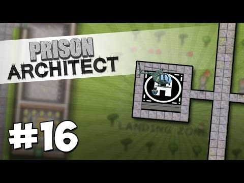 Prison Architect Modded #16 - HELICOPTERS IN THE PRISON