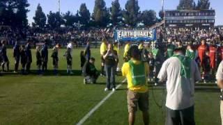 Lyndie Way sings the National Anthem @ San Jose Earthquakes game!