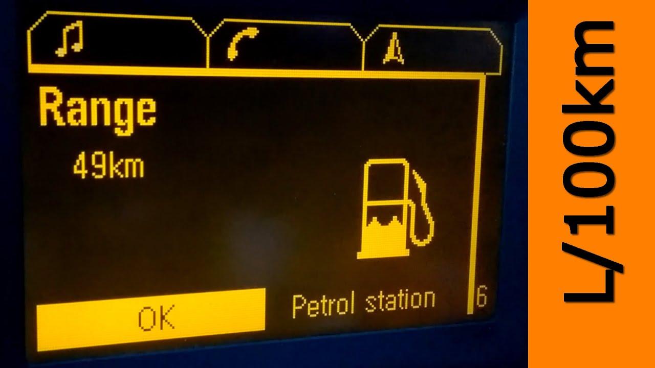 W Ultra Vectra C Jak obliczałem średnie spalania na 100km i Ilość paliwa OE86