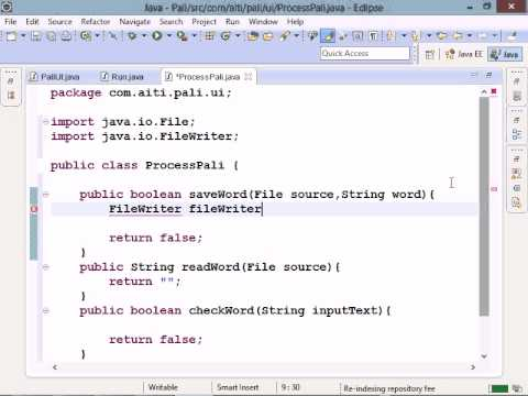 Java GUI palindrome tutorial