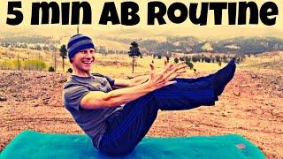 5 Min INTENSE Core Abs Workout w/ Sean Vigue