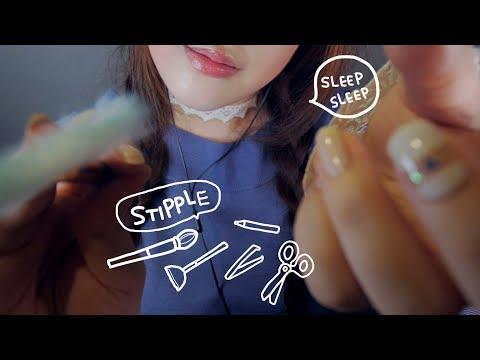 Stippling You & Trigger Words ASMR 단어반복 & 얼굴톡톡