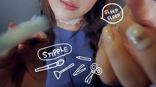 ASMR Stippling You & Trigger Words