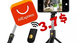 3.7$ Bluetooth Selfie Stick Tripod From AliExpress UnBoxing / UnPacking