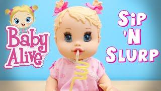 Baby Alive 2006 Sip N Slurp Doll Drinks Juice and Pees Her Diaper