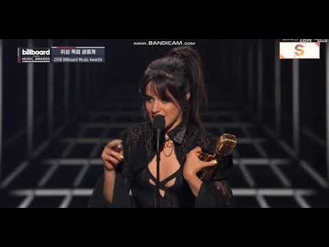 Camila Cabello BBMA winning speech - Billboard Chart Achievement