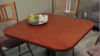 Innobella Destiny Mission 36 In. Square Mission Rosso Wood Folding Table Set - Product Review Video
