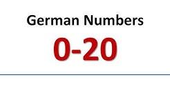German: Vocabulary - Numbers 0-20 (English subs)/Wortschatz - Zahlen (englische Untertitel)