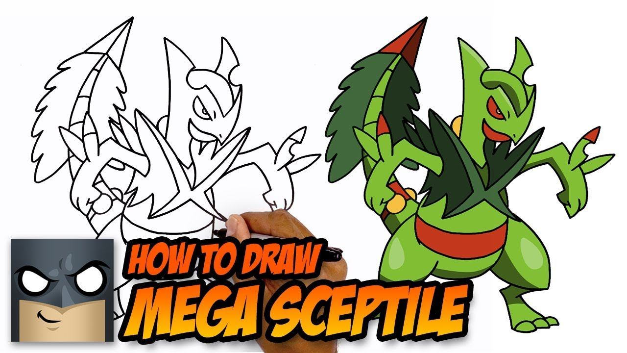 How to Draw Pokémon | Mega Sceptile