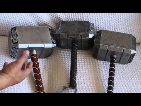 Mjolnir Comparison (Part 1 of 3) Hammerheads (Thor Hammer Replica)