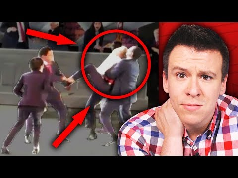"Thumbnail: People Are FREAKING OUT Over ""Trump Stabbing Controversy"" and Pissed Protesters..."