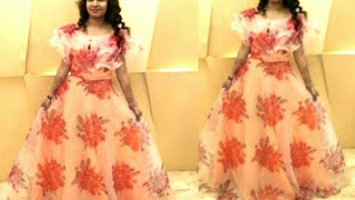 पुरानी साड़ी मे से कैसे बनाये ल़ोंग गाउन। convert old saree into Long Gown Dress।DlY