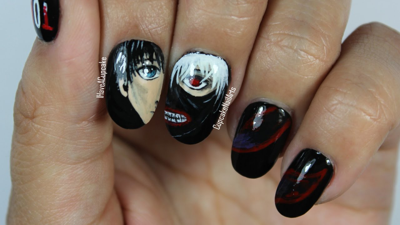 - Tokyo Ghoul Nails - Anime Nail Art - YouTube