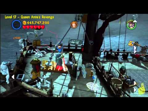 Lego Pirates Of The Caribbean: Level 17 Queen Annes Revenge - FREE PLAY (Minikits And Compass) - HTG