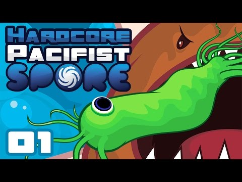Let's Play Hardcore Pacifist Spore - PC Gameplay Part 1 - Please Don't Eat Me!