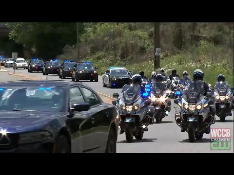 Fallen Officer Jordan Sheldon Transported To Concord Funeral Home
