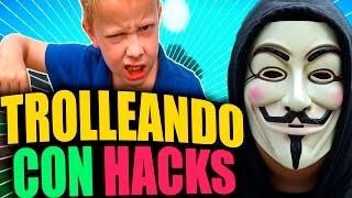 TROLLEANDO CON HACKS  | TROLLEOS EN MINECRAFT #64