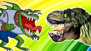 Детям про Динозавров Сборник Тираннозавр РЕКС Плохой Динозавр Загадки про Динозавров Lion boy