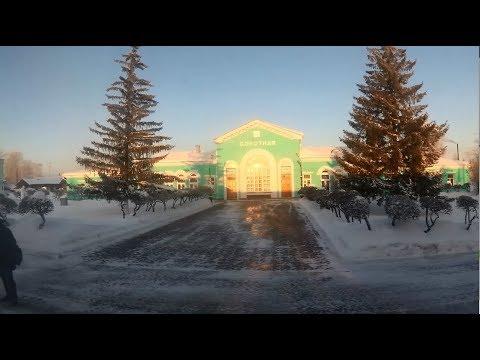 От Юрги до Новосибирска из окна поезда