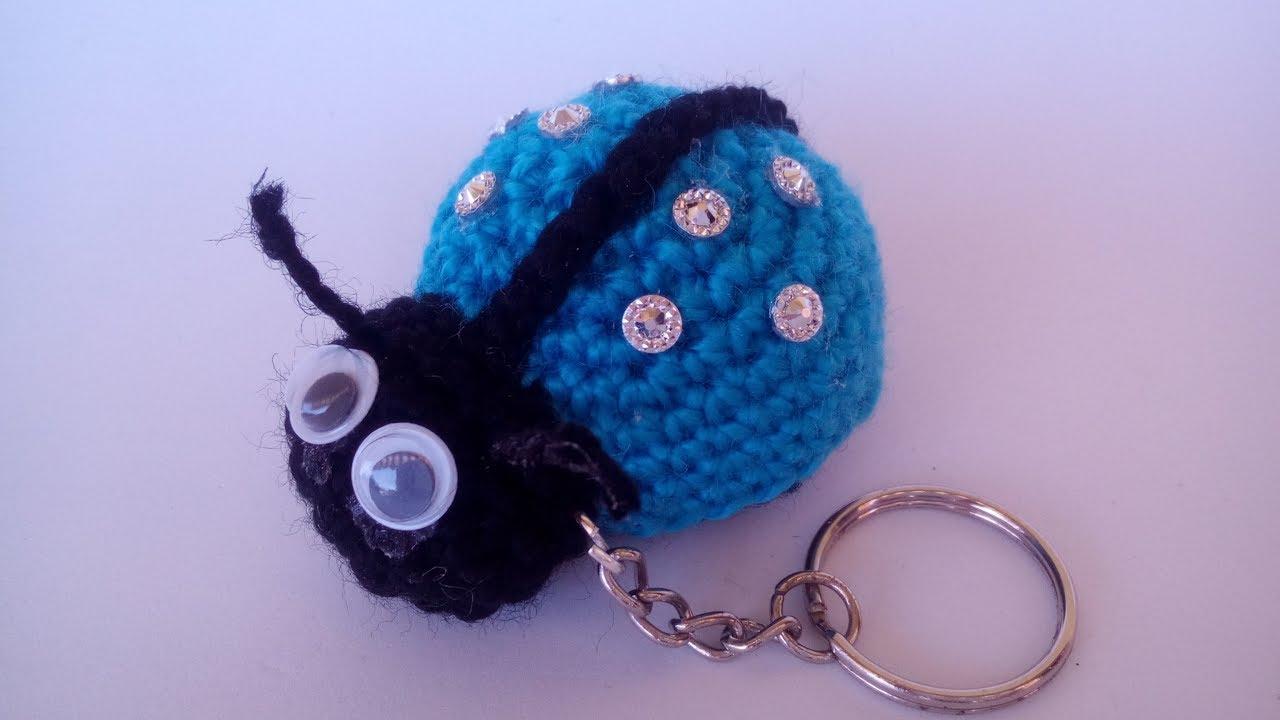 Coccinella Portachiavi Amigurumi Tutorial Keycover Ladybug Crochet