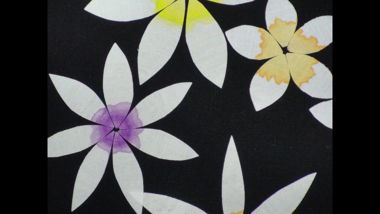 How To Make Simple White Fabric Flowers Youtube