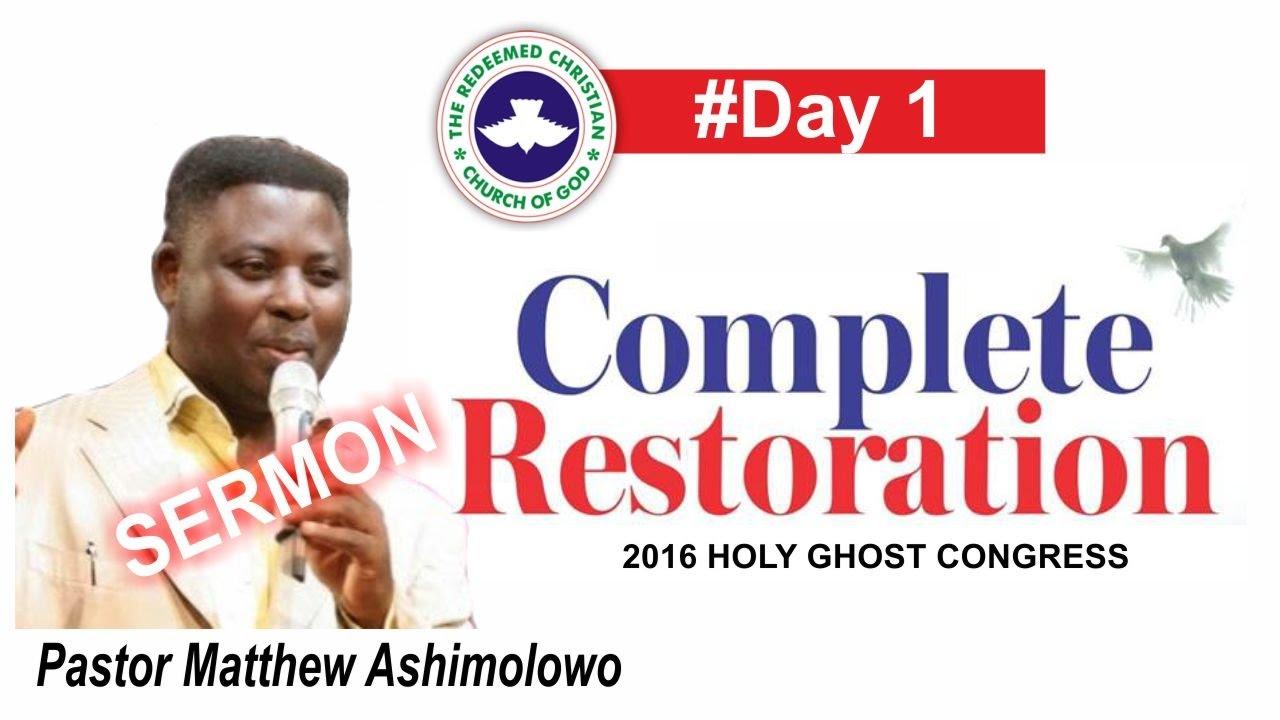 Pastor Matthew Ashimolowo Sermon @ RCCG 2016 HOLY GHOST CONGRESS 2016 #Day 1