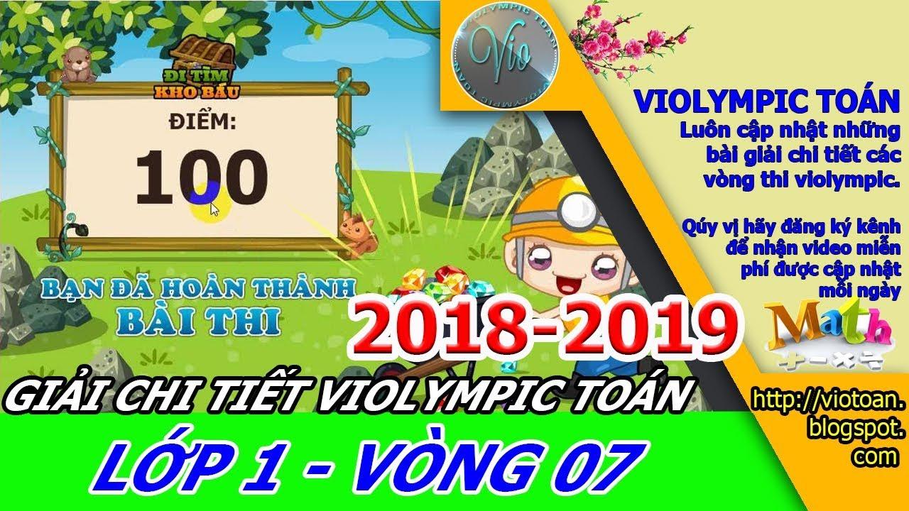 VIOLYMPIC TOÁN LỚP 1 VÒNG 7 NĂM HỌC 2018-2019 – THI TOÁN VIOLYMPIC