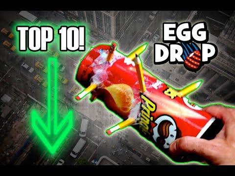 Top 10 1ST PLACE Egg Drop Designs! Science Experiment Challenge ...