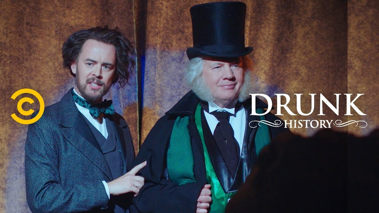 Drunk History Christmas.How Charles Dickens Changed Christmas For The World Feat Colin Hanks Drunk History