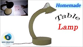 DIY Cardboard Table Lamp | How to Make Table Lamp At Home with Cardboard | Table Lamp Making Ideas