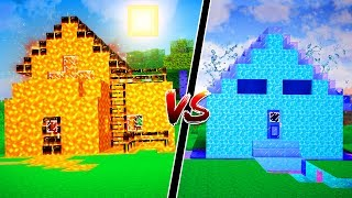 LAVA HOUSE VS WATER HOUSE | Minecraft Mods