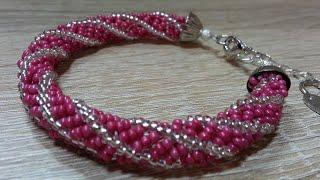 Браслет из бисера/Браслет иглой/Как сделать браслет/Beaded bracelet/Diy bracelet/Spiral bracelet