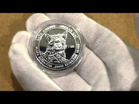 Royal Silver Company 2010 Andean Cat .99999 Silver 1 oz Roun