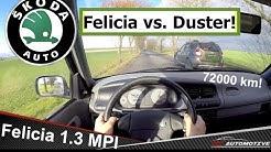 Skoda Felicia 1.3 MPI (2001) POV Test Drive + Acceleration 0 - 130 km/h